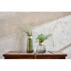 Vase MIZA verre recyclé Smoke