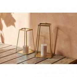 Lanterne en Verre et Laiton MOYO Petit Modèle