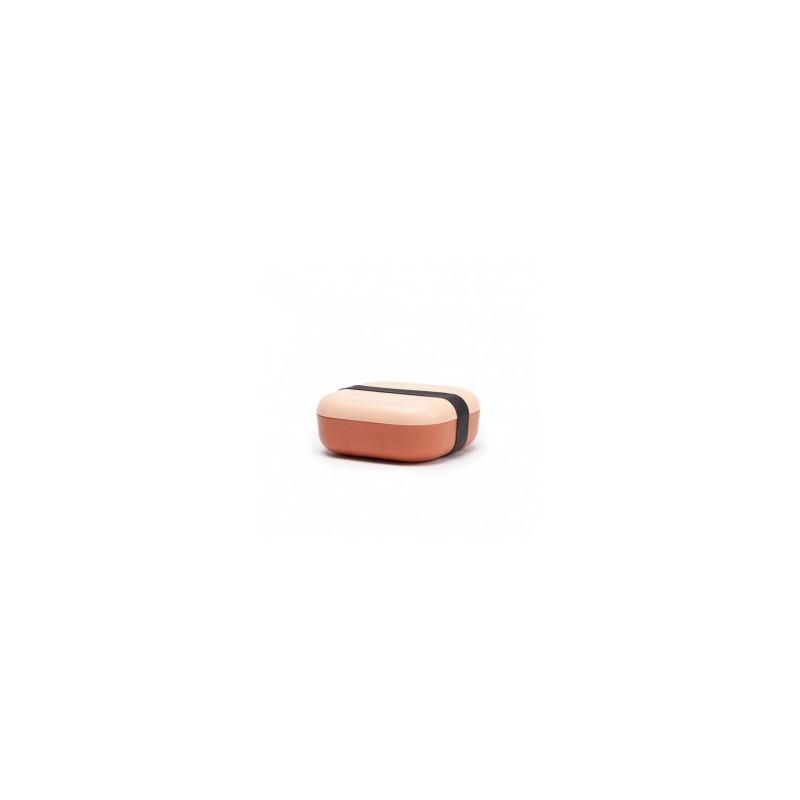 Boîte à goûter bicolore en Fibre de Bambou Blush/Terracotta
