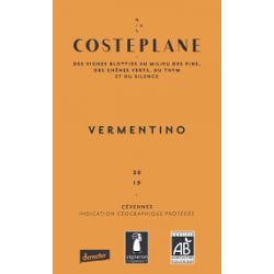 Blanc - Costeplane - IGP Cevennes - 75 cl