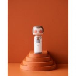 Figurine Kokeshi Elton in white